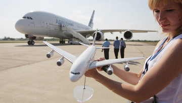 "Прилет ""Аэробуса"" А-380 на авиасалон ""МАКС-2011"""