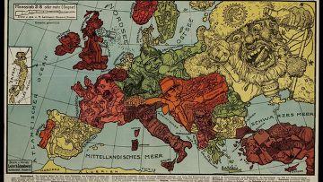 Сатирический карты европы