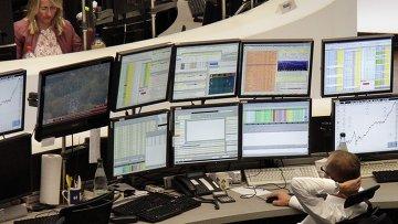 Работа франкфуртской фондовой биржи в Германии