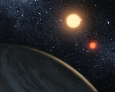 Планетная система с двумя солнцами Kepler-16