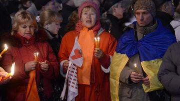 """Митинг в честь 7-й годовщины """"оранжевой революции"""" в Киеве"""