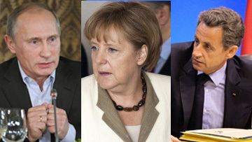 Путин, Меркель и Саркози