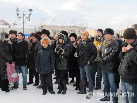 """Акция российских граждан """"За справедливые выборы"""" в Улан-Удэ"""