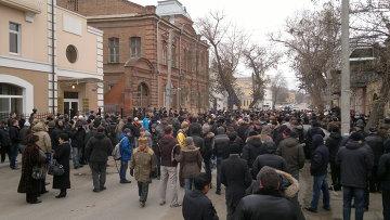 """Митинг """"За честные выборы"""" в Астрахани"""