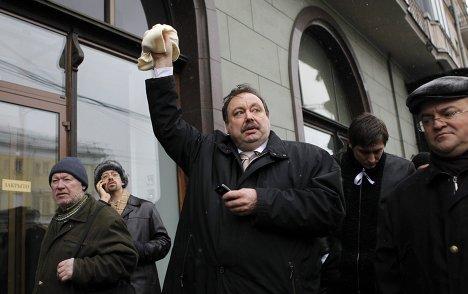 """Геннадий Гудков на митинге """"За честные выборы"""" в Москве"""