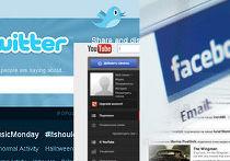 Twitter, Facebook и YouTube
