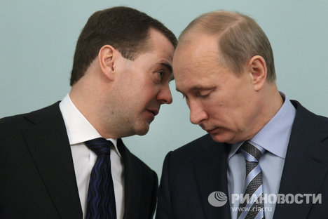 Д.Медведев принимает участие в заседании правительства РФ