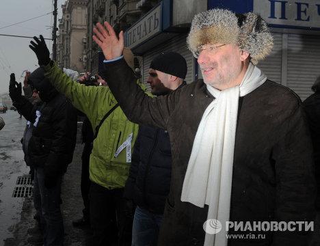"""Акция """"Белый круг"""" на Садовом кольце в Москве"""
