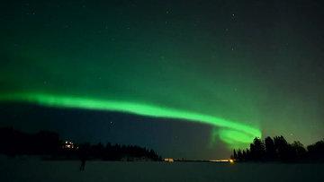 Жители Норвегии наблюдали уникальное северное сияние
