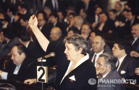 Сопредседатель Свободной демократической партии России Марина Салье