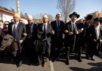 Молчаливый марш в Париже в память о жертвах Тулузы и Монтабана