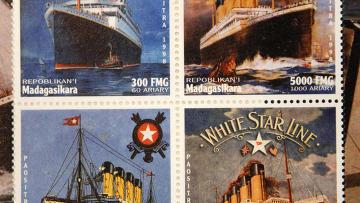 """Памятные марки, выпущенные на Мадагаскаре по случаю годовщины катастрофы """"Титаника"""""""