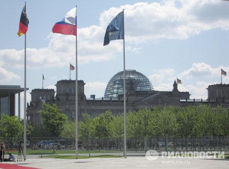 Берлин. Вид на Рейхстаг