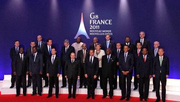 """Д.Медведев на саммите """"Большой восьмерки"""" в Довиле. День второй"""