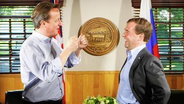 Дмитрий Медведев и Дэвид Кэмерон проводят неформальную встречу в Кэмп-Дэвиде