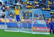 Тренировка сборной Украины по футболу