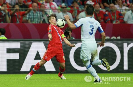 Футбол. ЕВРО - 2012. Матч сборных Греции и России