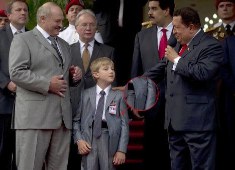 Александр и Николай Лукашенко и Уго Чавес