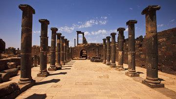 Разрушенный древний город в Сирии