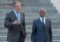 Встреча Сергея Лаврова и Кофи Аннана в Москве