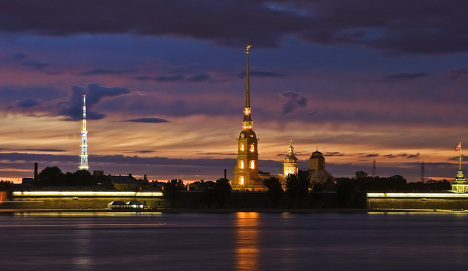 Период белых ночей в Санкт-Петербурге