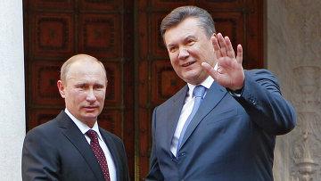 Рабочий визит президента РФ В.Путина в Украину