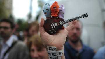 Акция в поддержку участниц панк-группы Pussy Riot в Москве
