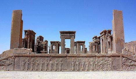 Дворец Дария I в Персеполе. Иран