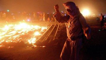 Фестиваль Burning Man в пустыне Блэк-Рок