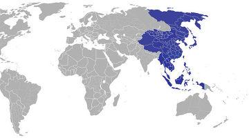 Дальний Восток на карте мира