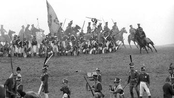 Фрагмент военно-исторической реконструкции Бородинского сражения