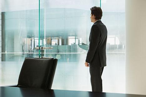 Бизнесмен в своем офисе