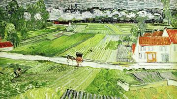 "Картины Винсента Ван Гога ""Пейзаж в Овере после дождя"""