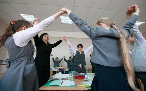 Учащиеся школы № 19 Ставропольского края