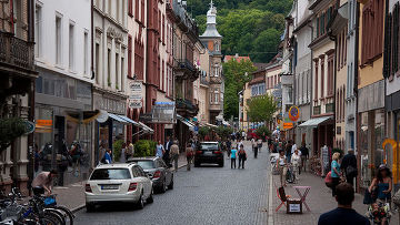Город Фрайбург в Германии