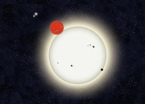 """""""Семейная фотография"""" планетной системы PH1, обнаруженной в системе из четырех звезд"""