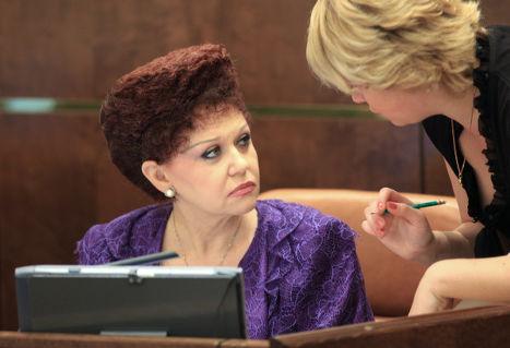Валентина Петренко на заседании Совета Федерации, 2009 г.