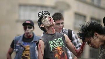 Парад зомби в Мексике