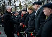 Мэр Москвы Сергей Собянин приветствует ветеранов Великой Отечественной войны