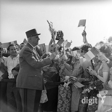 Встреча Шарля де Голля в аэропорту Внуково