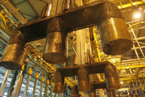 Пуск пятой серии на Иркутском алюминиевом заводе