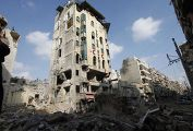 Разрушенное здание в Алеппо