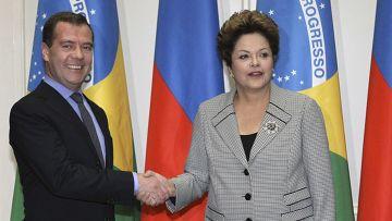 Дмитрий Медведев и Дилма Русеф