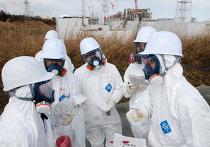 Участники пресс-тура на территории АЭС Фукусима
