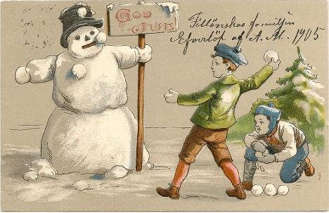Шведская новогодняя открытка (1905)