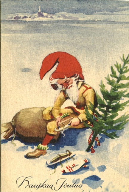 Финская новогодняя открытка