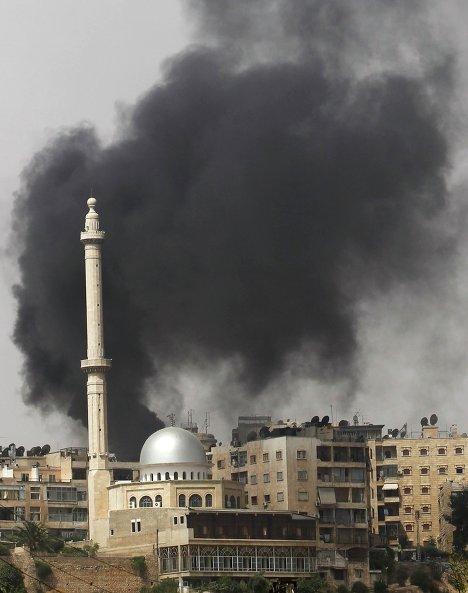 Взрыв в городе Алеппо