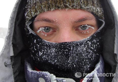 Сильные морозы в Томске