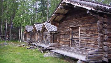 Деревня народа саами в Швеции