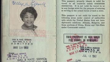 Паспорт Эллы Фицджеральд, американской джазовой певицы